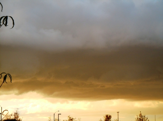 yellow storm clouds